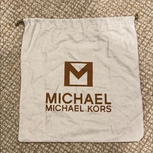 Michael Kors extra large linen tote purse dust bag